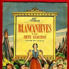 Coleccionismo Álbumes: ALBUM CROMOS BLANCANIEVES Y LOS SIETE ENANITOS , CON 255 CROMOS ,SOBRE AS SERIE E ,ORIGINAL, K. Lote 47556363
