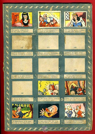 Coleccionismo Álbumes: ALBUM CROMOS BLANCANIEVES Y LOS SIETE ENANITOS , CON 255 CROMOS ,SOBRE AS SERIE E ,ORIGINAL, K - Foto 13 - 47556363