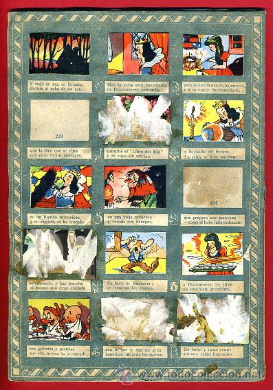 Coleccionismo Álbumes: ALBUM CROMOS BLANCANIEVES Y LOS SIETE ENANITOS , CON 255 CROMOS ,SOBRE AS SERIE E ,ORIGINAL, K - Foto 18 - 47556363