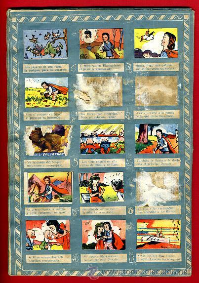 Coleccionismo Álbumes: ALBUM CROMOS BLANCANIEVES Y LOS SIETE ENANITOS , CON 255 CROMOS ,SOBRE AS SERIE E ,ORIGINAL, K - Foto 22 - 47556363