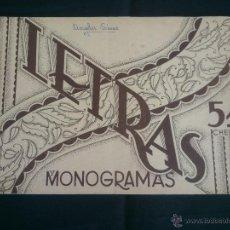 Coleccionismo Álbumes: ALBUM PARA BORDAR LETRAS Y MONOGRAMAS.EDICCIONES CHELOS.. Lote 47668305