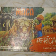 Coleccionismo Álbumes: ALBUM INCOMPLETO AFRICA Y SUS HABITANTES DE MAGA.. Lote 47730072