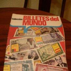 Coleccionismo Álbumes: ALBUM DE CROMOS BILLETES DE MUNDO. Lote 47761343