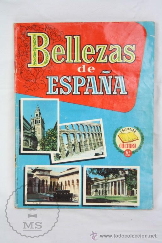 ÁLBUM DE CROMOS INCOMPLETO - BELLEZAS DE ESPAÑA. COL. CULTURA - ED. BRUGUERA - FALTAN 83 CROMOS (Coleccionismo - Cromos y Álbumes - Álbumes Incompletos)