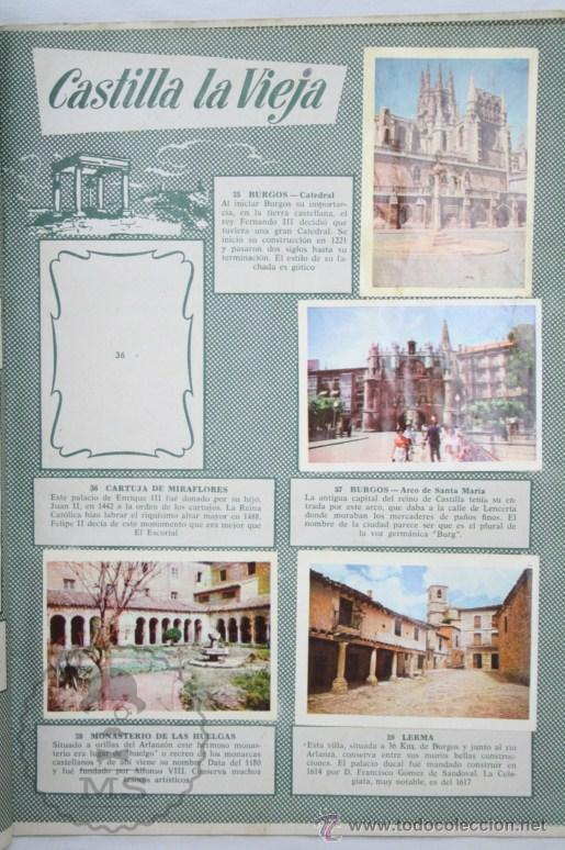 Coleccionismo Álbumes: Álbum de Cromos Incompleto - Bellezas de España. Col. Cultura - Ed. Bruguera - Faltan 83 Cromos - Foto 5 - 48275900