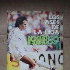 Coleccionismo Álbumes: ÁLBUM DE CROMOS LOS ASES DE LA LIGA 1988-1989, 88-89, DE AS, A FALTA DE CINCO CROMOS. Lote 48533402