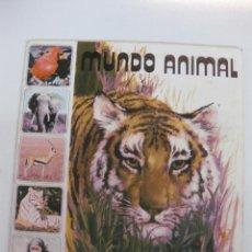 Coleccionismo Álbumes: ALBUM CROMOS.- MUNDO ANIMAL. PUBLICACIONES FHER. CONTIENE 31 CROMOS DE 121... Lote 48561468