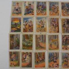 Coleccionismo Álbumes: C-153. COL. 36 CROMOS LAS HAZAÑAS DE PEDALITO. AÑOS 30. CHOCOLATES TORRAS. FALTA UN CROMO (Nº 33).. Lote 194499367
