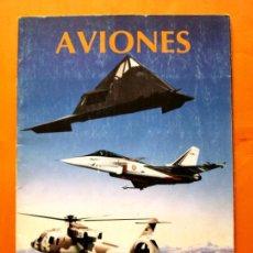 Coleccionismo Álbumes: ALBUM DE CROMOS INCOMPLETO - AVIONES - FALTAN 38 CROMOS - PANINI - . Lote 48623389