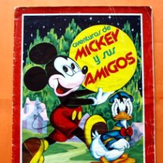 Coleccionismo Álbumes: ALBUM DE CROMOS INCOMPLETO - AVENTURAS DE MICKEY Y SUS AMIGOS - EDITORIAL FHER - . Lote 48623692
