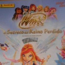 Coleccionismo Álbumes: WINX CLUB EN EL SECRETO DEL REINO MAGICO · CONTIENE 92 CROMOS DE 200 - COLECCIONES PANINI. Lote 48718684
