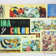 Coleccionismo Álbumes: ÁLBUM DE CROMOS INCOMPLETO - VIDA Y COLOR - ED. ÁLBUMES ESPAÑOLES, 1965 - FALTAN 15 CROMOS. Lote 48987477