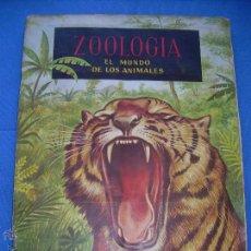 Coleccionismo Álbumes: ALBUM ZOOLOGIA EL MUNDO DE LOS ANIMALES DE FERCA - ESTA COMPLETO A FALTA DE 1 CROMO EL Nº 34. Lote 49096997