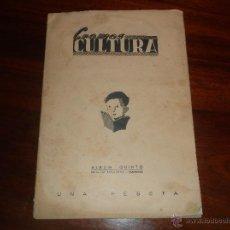 Coleccionismo Álbumes: CROMOS CULTURA ALBUM QUINTO - EDITORIAL BRUGUERA ALBUM DE CROMOS 1941 CONTIENE 55 CROMOS. Lote 58467927