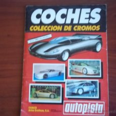 Coleccionismo Álbumes: ALBUM COCHES - AUTOPISTA - EDC. CUSCO 1990 ( A-1). Lote 49529596