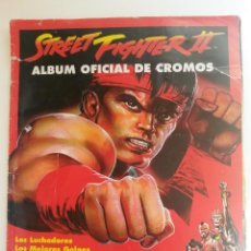 Coleccionismo Álbumes: ALBUM DE CROMOS STREET FIGHTER II, LE FALTAN 10 CROMOS VER NUMEROS,MERLIN, CAPCOM. Lote 49562467