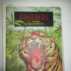 Coleccionismo Álbumes: ÁLBUM DE CROMOS ZOOLOGÍA EL MUNDO DE LOS ANIMALES. Lote 49568035
