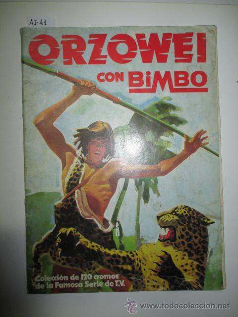 ÁLBUM DE CROMOS ORZOWEI CON BIMBO (Coleccionismo - Cromos y Álbumes - Álbumes Incompletos)