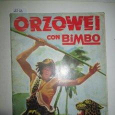Coleccionismo Álbumes: ÁLBUM DE CROMOS ORZOWEI CON BIMBO. Lote 49568043