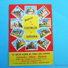 Coleccionismo Álbumes: ALBUM INCOMPLETO. HISTORIA DE LOS CASTILLOS DE ESPAÑA. SOBRES SORPRESA TASCO. MURCIA, 1964.. Lote 49771783