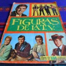 Coleccionismo Álbumes: FIGURAS DE LA TV INCOMPLETO FALTAN 44 DE 180 CROMOS. FHER 1965. RARO.. Lote 49875634