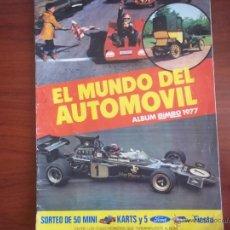 Coleccionismo Álbumes: ALBUM EL MUNDO DEL AUTOMOVIL - BIMBO 1977 - VACIO (A-2). Lote 49894855