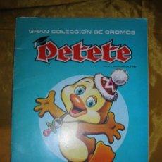 Coleccionismo Álbumes: GRAN COLECCION DE CROMOS PETETE. ALBUM VACIO. TRAE DIPLOMA RECUERDO COMPAÑEROS CURSO 1982. Lote 50110391