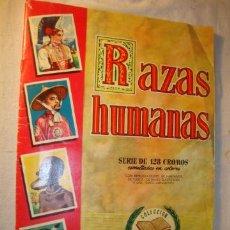 Coleccionismo Álbumes: ALBUM DE CROMOS ORIGINAL INCOMPLETO RAZAS HUMANAS .EDITORIAL BRUGUERA. MUY BUEN ESTADO. (2). Lote 50162148
