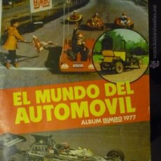 Coleccionismo Álbumes: ALBUM CROMOS EL MUNDO DEL AUTOMOVIL.- BIMBO TIENE 7O CROMOS. Lote 50181768