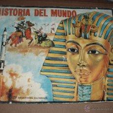 Coleccionismo Álbumes: ALBUM HISTORIA DEL MUNDO FHER INCOMPLETO CON 118 CROMOS. Lote 50263653