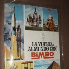 Coleccionismo Álbumes: ALBUM LA VUELTA AL MUNDO CON BIMBO CON 259 CROMOS. Lote 50302418