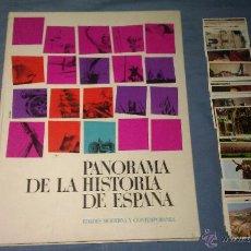 Collectionnisme Albums: ÁLBUM DE CROMOS VACÍO PLANCHA PANORAMA DE LA HISTORIA DE ESPAÑA II DE NESTLÉ + LOTE CROMOS - 1967 -. Lote 50386146