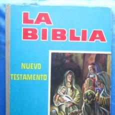 Coleccionismo Álbumes: ÁLBUM SIN CROMOS LA BIBLIA NUEVO TESTAMENTO. PRODUCTOS VIRGINIAS, RODRÍGUEZ HERMANOS, REUS, 1962.. Lote 50439352