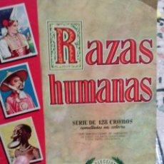 Coleccionismo Álbumes: ALBUM RAZAS HUMANAS. Lote 50461532