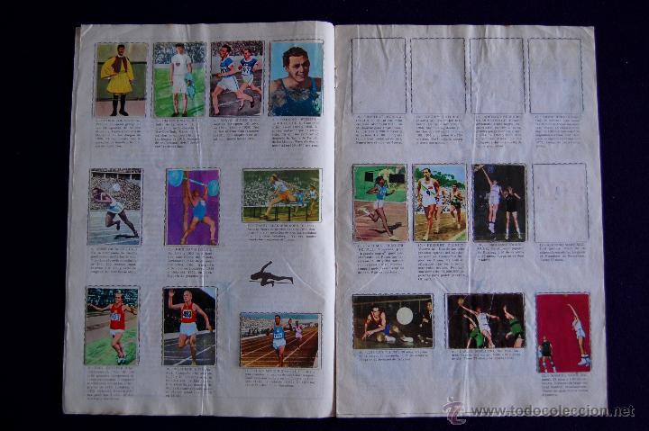 Coleccionismo Álbumes: ALBUM ATLETAS TOKIO 1964. CON 95 CROMOS DE 120. 1964. FHER-DISGRA. - Foto 3 - 50719936