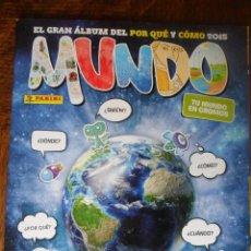 Coleccionismo Álbumes: MUNDO, EL GRAN ALBUM DEL POR QUE Y COMO 2015- CONTIENE 78 CROMOS DE 224. Lote 50789578