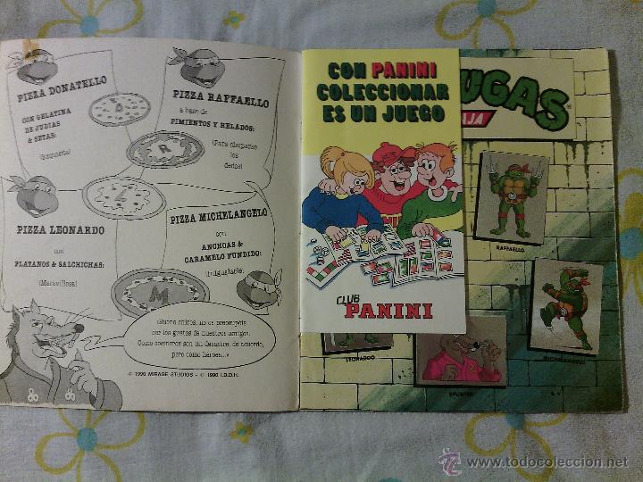 Coleccionismo Álbumes: ALBUM TORTUGAS NINJA / CROMOS PANINI / AÑOS 90s / VINTAGE COLECCIONISMO CASI COMPLETO - Foto 2 - 50965380