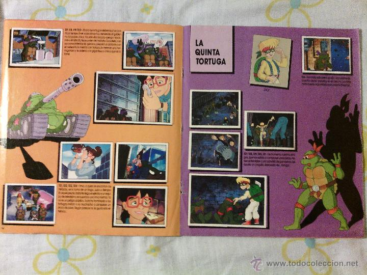 Coleccionismo Álbumes: ALBUM TORTUGAS NINJA / CROMOS PANINI / AÑOS 90s / VINTAGE COLECCIONISMO CASI COMPLETO - Foto 4 - 50965380
