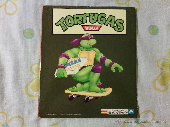 Coleccionismo Álbumes: ALBUM TORTUGAS NINJA / CROMOS PANINI / AÑOS 90s / VINTAGE COLECCIONISMO CASI COMPLETO - Foto 5 - 50965380