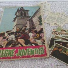 Coleccionismo Álbumes: ALBUM CROMOS ALEGRE JUVENTUD + BOLETOS ...COCA-COLA - 1963. Lote 50994564