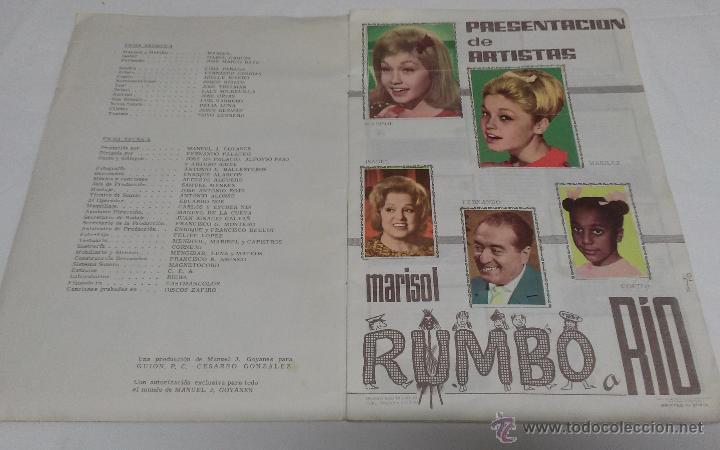 Coleccionismo Álbumes: ALBUM DE CROMOS MARISOL RUMBO A RIO - FHER - AÑO 1963 - FALTAN DOS CROMOS - Foto 5 - 51003156