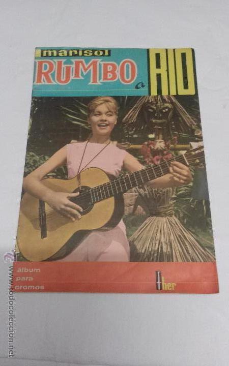 ALBUM DE CROMOS MARISOL RUMBO A RIO - FHER - AÑO 1963 - FALTAN DOS CROMOS (Coleccionismo - Cromos y Álbumes - Álbumes Incompletos)