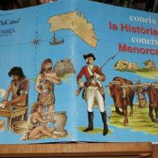 Coleccionismo Álbumes: CONEIX L'HISTORIA, CONEIX MENORCA (ALBUM SIN CROMOS, SON 204 CROMOS ) EN MUY BUEN ESTADO . Lote 51147320