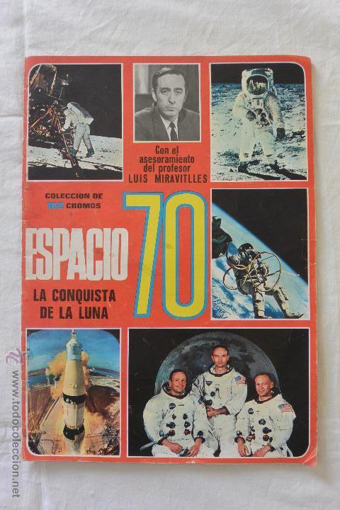 ALBUM CROMOS ESPACIO 70 (Coleccionismo - Cromos y Álbumes - Álbumes Incompletos)