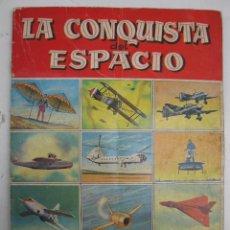 Coleccionismo Álbumes: ÁLBUM DE CROMOS - LA CONQUISTA DEL ESPACIO - EDITORIAL BRUGUERA - AÑO 1956.. Lote 51556902