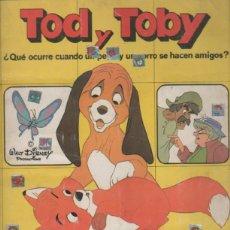 Coleccionismo Álbumes: ALBUM DE CROMOS. TOD Y TOBY. PANINI. FALTAN DOS CROMOS. Nº 144 Y Nº 148. WALT DISNEY. Lote 51664929