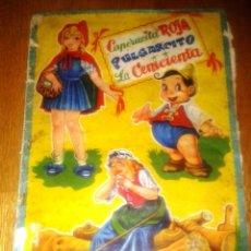Coleccionismo Álbumes: ALBUM CAPERUCITA ROJA, PULGARCITO Y LA CENICIENTA, FHER 1957. Lote 51726732