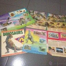 Coleccionismo Álbumes: ALBUM DINOSAURS DE PANINI VERSIÓN EN CATALÁN (INCOMPLETO 163/180) PARA DESGUACE. Lote 51895480