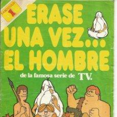 Coleccionismo Álbumes: ALBUM PANRICO ERASE UNA VEZ EL HOMBRE FASCICULO 1 CON 13 CROMOS. Lote 52170845