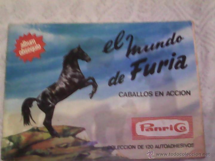 PANRICO - ALBUM FURIA CON 71/120 CROMOS (Coleccionismo - Cromos y Álbumes - Álbumes Incompletos)